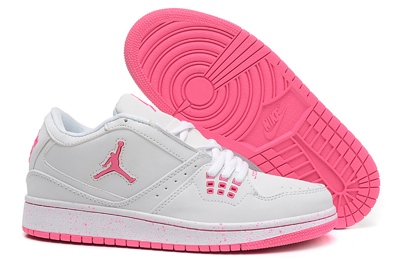 Women Air Jordan 1 GS Low White Pink 2015