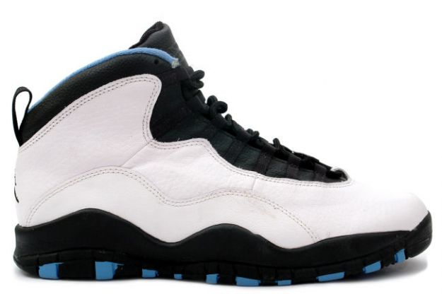 cheap jordan 10 charlotte hornets white black dark powder blue shoes