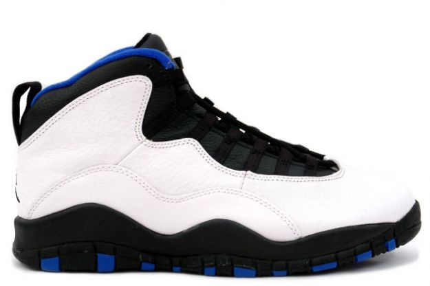 cheap jordan 10 new york knicks white black royal blue orange flam