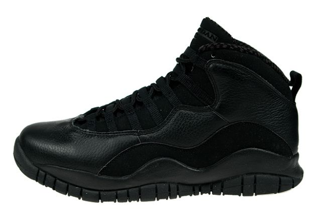 cheap jordan retro 10 all black shoes