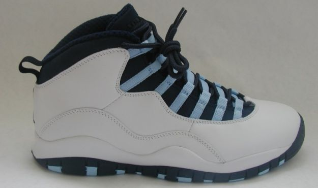 cheap jordan 10 ice blue white obsidian ice blue varsity red shoes
