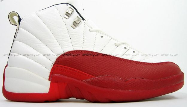 original jordan retro 12 white varsity red shoes