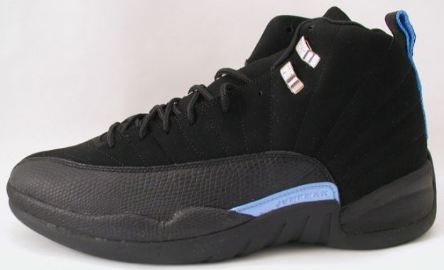 original jordan retro 12 nubucks unc black university blue shoes