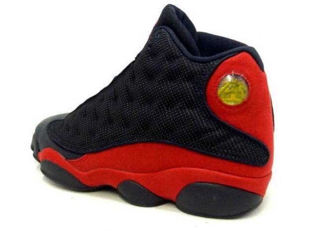 discount authentic air jordan 13 black varsity red shoes