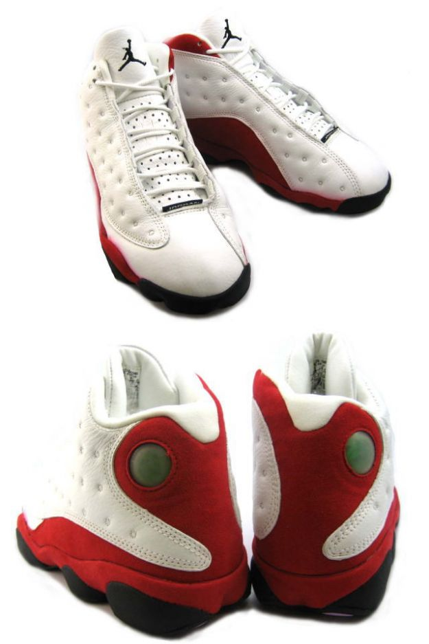 discount authentic air jordan 13 white black true red pearl shoes