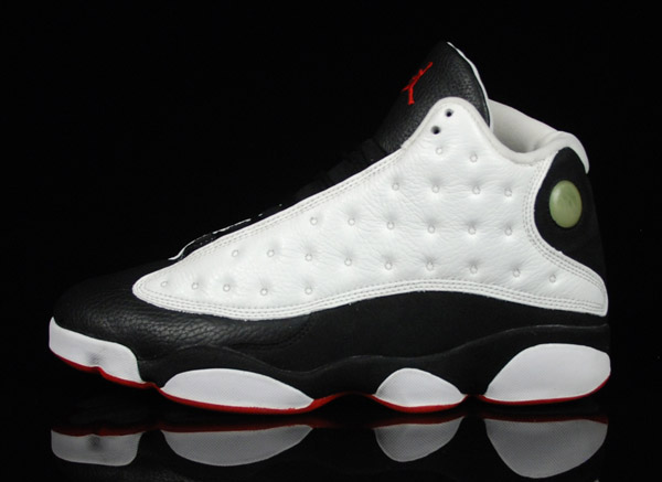 discount authentic air jordan 13 white true red black shoes