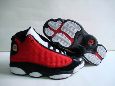 discount authentic air jordan 13 white black red shoes