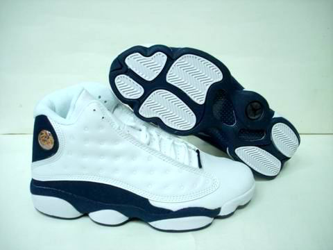 discount authentic air jordan 13 white blue shoes
