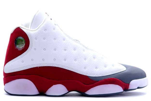 discount authentic air jordan 13 white team red flint grey shoes