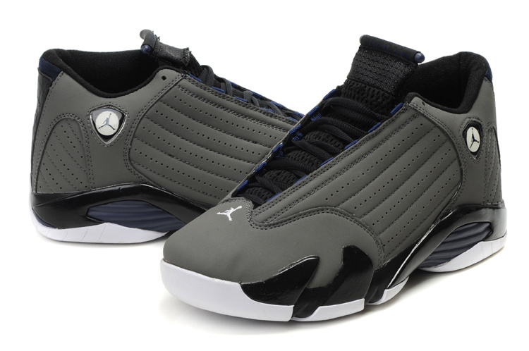 air jordan 14 grey white shoes