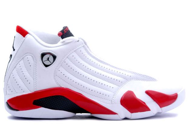 air jordan 14 white black vaarsity red shoes
