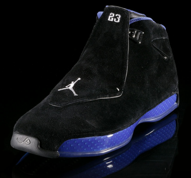 air jordan 18 black royal blue shoes