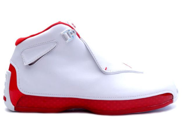 air jordan 18 white varsity red shoes