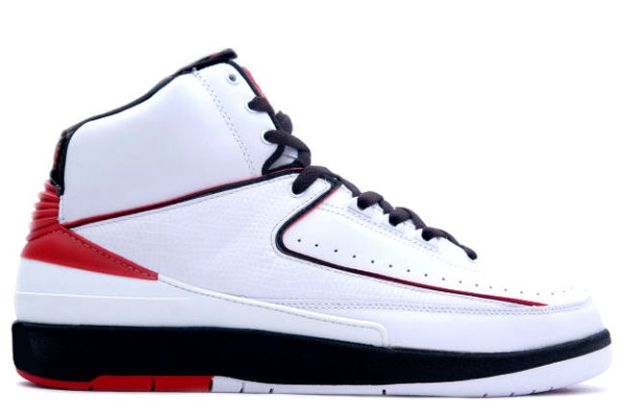 Cheap And Comfortable Air Jordan 2 White Varsity Red Black Shoes
