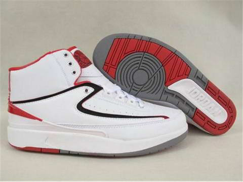 Cheap And Comfortable Air Jordan 2 White Varsity Red Shoes