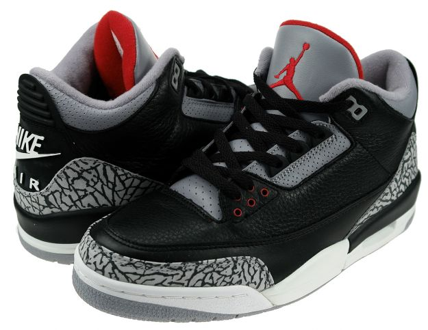 Original Jordan 3 Black Cement Grey Shoes