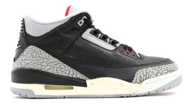Original Jordan 3 Black Cement Grey Countdown Pack Shoes