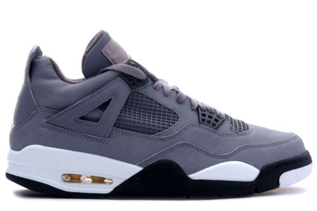 cheap authentic jordan 4 cool grey chrome dark charcoal varsity maize shoes