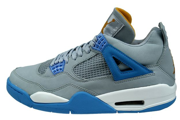 cheap authentic jordan 4 mist blue university blue gold leaf white shoes