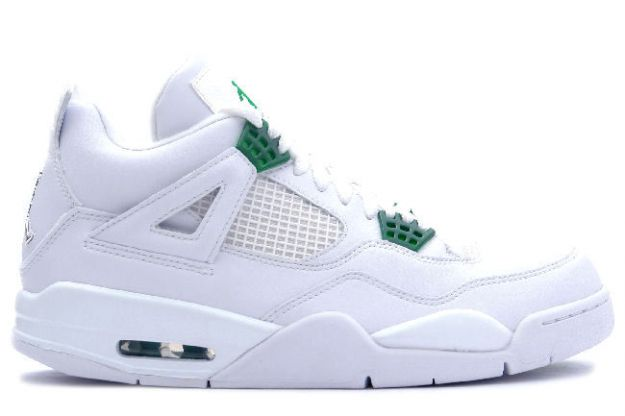 cheap authentic jordan 4 white chrome green shoes