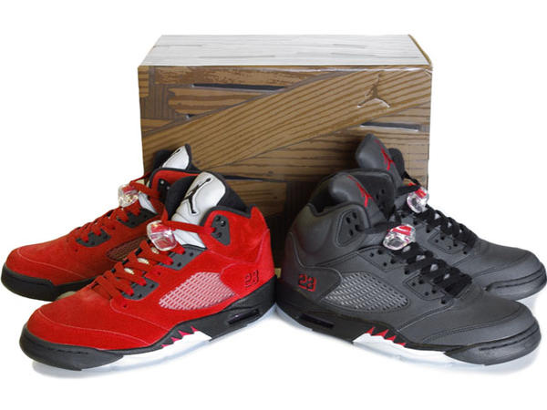 Cheap Air Jordan 5 Raging Bull Pack Varsity Red Black Package