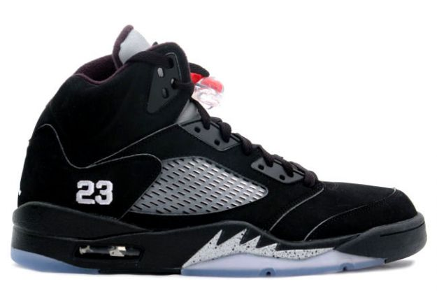 cheap and comfortable jordan 5 black metallic silver shoes
