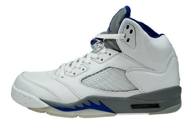 cheap and comfortable jordan 5 white sport royal stealth shoes