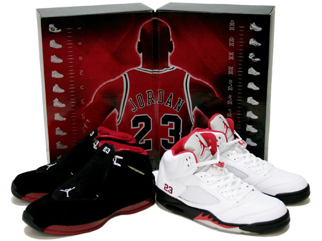 special jordan 5 white black fire red&air jordan 18 countdown packag - Click Image to Close