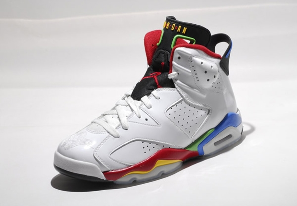 Hot-sale Air Jordan 6 Olympics Colors White Shoes