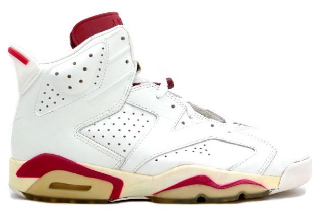 Original Air Jordan 6 Off White Maroon Shoes