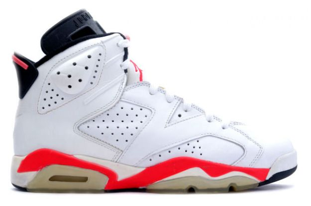Original Air Jordan 6 White Infared Black Shoes