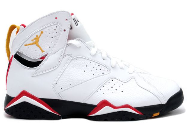 air jordan 7 retro cardinals white black cardinal red bronze shoes