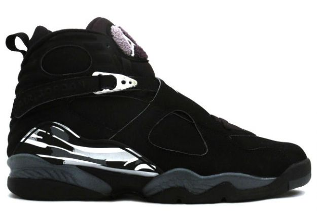 Air Jordan 8 Retro black chrome shoes