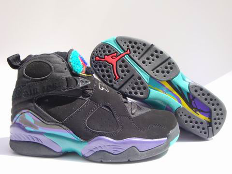 cheap real jordan 8 black green shoes