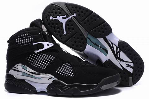 cheap real jordan 8 black grey shoes