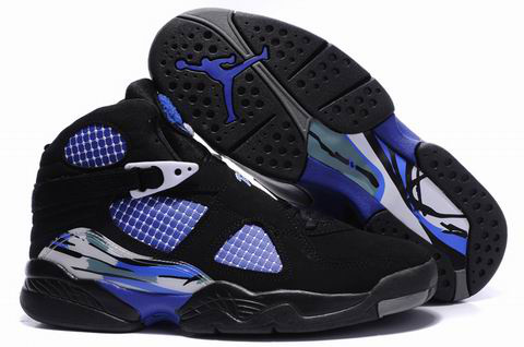 cheap real jordan 8 black true blue shoes