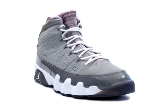 air jordan 9 retro medium grey white cool grey shoes
