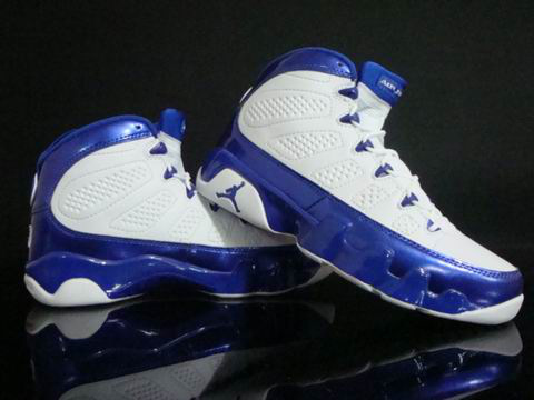 air jordan 9 retro white blue shoes