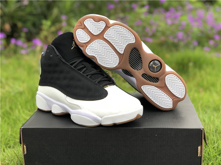womens new jordan 13 gs city of flight gold gum shoes